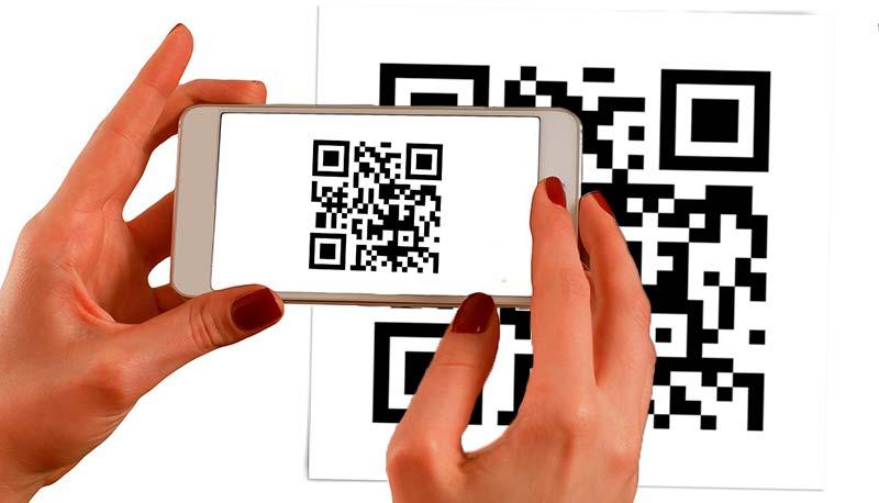 Pegatinas código QR mira mi carta online